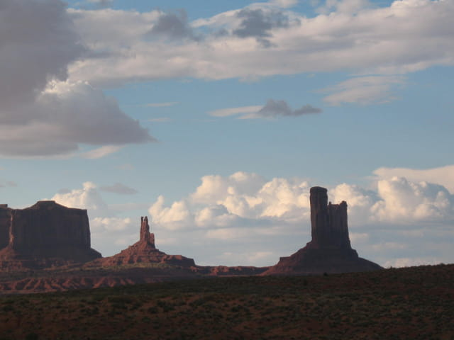 Orage sur Monument Valley
