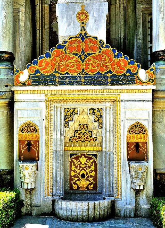 Palais de Topkapi, fontaine ottomane.