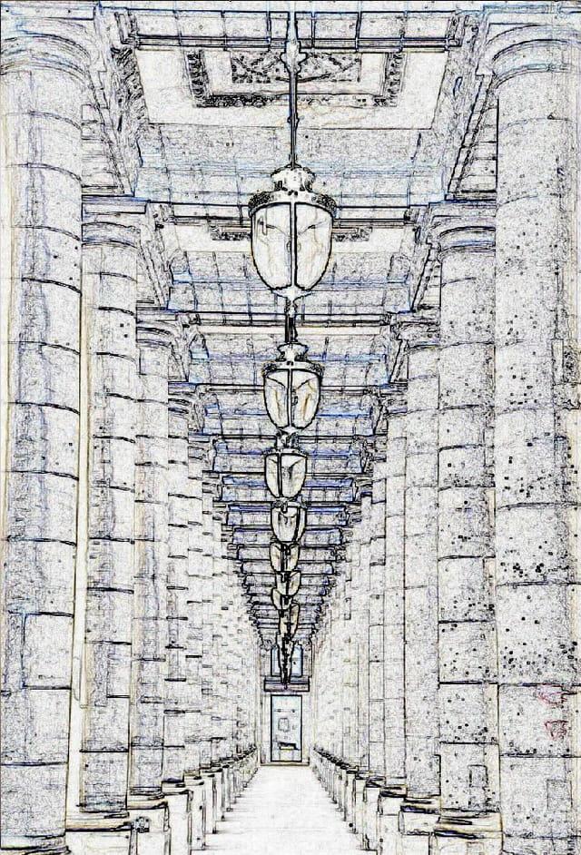 Palais-royal et ses colonnades
