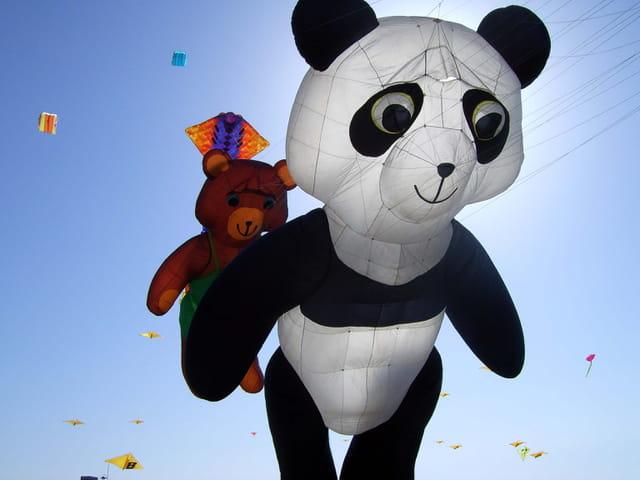 Panda cerf volant