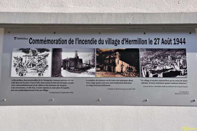 Panneau historique - Village d'Hermillon