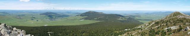 Panorama au sommet du Mont Mézenc