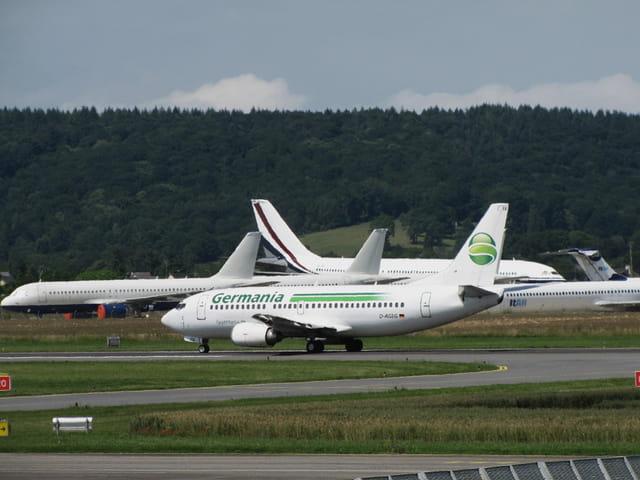 Panorama d'avions.