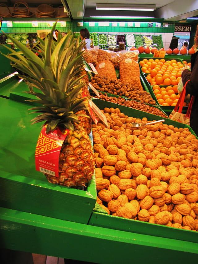 Panorama de fruits et légumes.