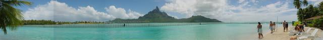Panoramique Motu vue Bora Bora