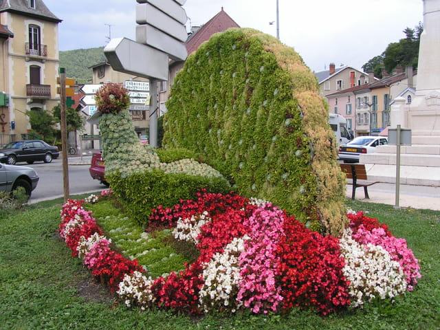 Paon en fleurs