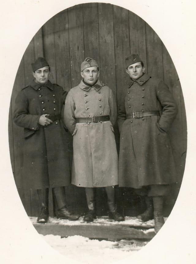 Papa et ses deux frères en permission