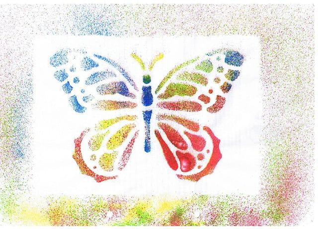 Papillon fait par une petite fille 5 ans et demi