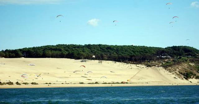 parapente sur la dune du pyla