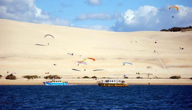 parapente sur la dune du Pyla et promenades en bateau