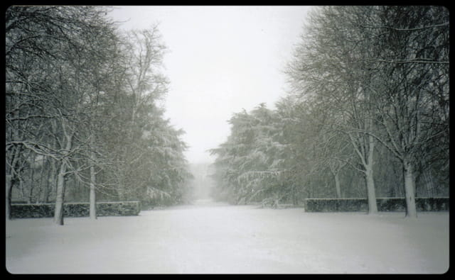 Parc de sceaux sous la neige