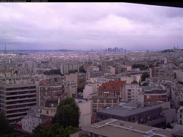Paris depuis le nord est