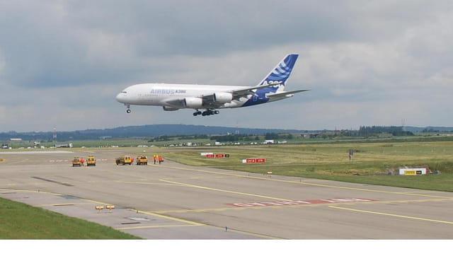 Paris première arrivée de l'Airbus A380