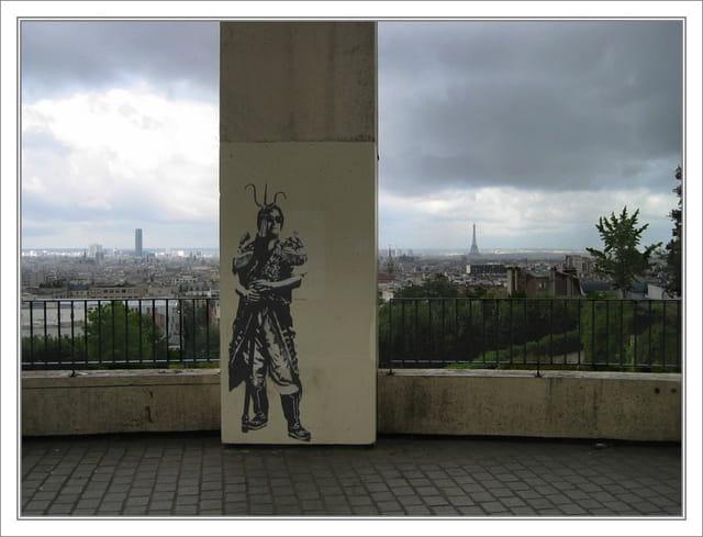 Paris vu des hauts de belleville