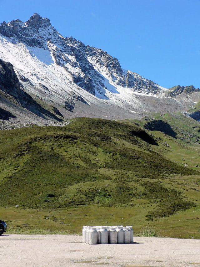 Paturages en haute montagne.