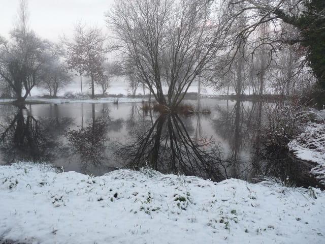 Paysage ambiance neigeuse