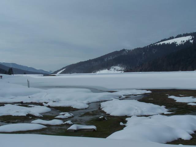 Paysage d'hiver dans les Pyrénées.