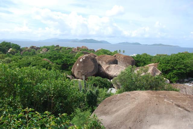paysage de l'île Virgin Gorda