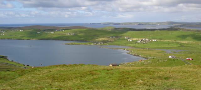 Paysage des îles shetland