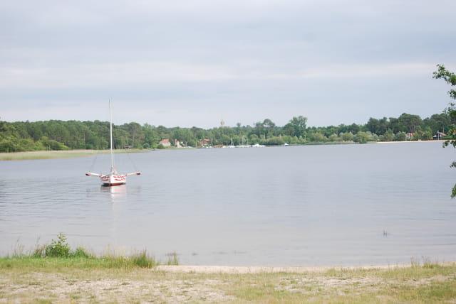paysage du lac de Sanguinet