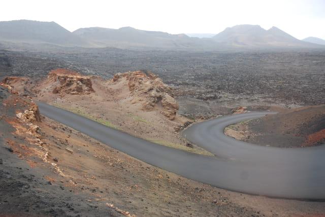 paysage lunaire à Lanzarote