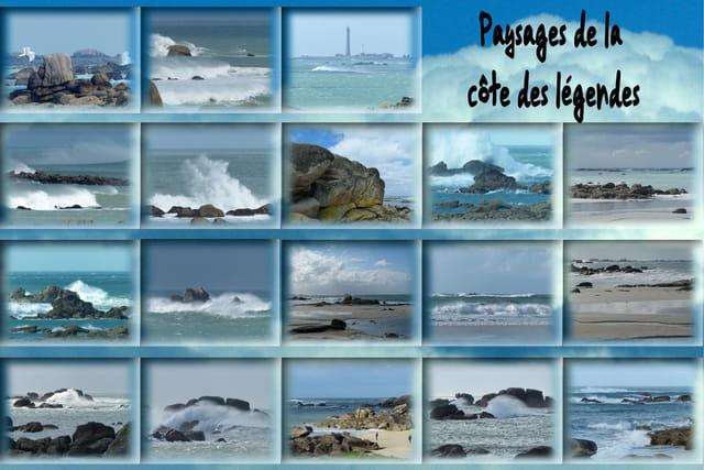Paysages de la côte des légendes