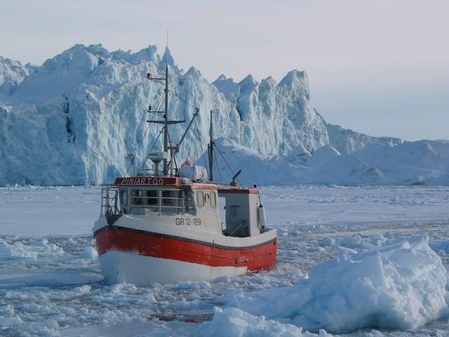 Pêche arctique dans la baie de Disko