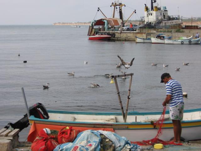 Pêcheur à Nessebar
