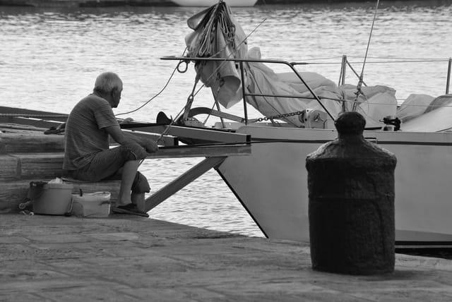 Pêcheur matinal