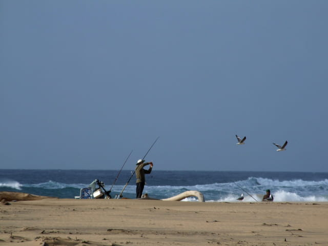 Pêcheur sur l'océan indien