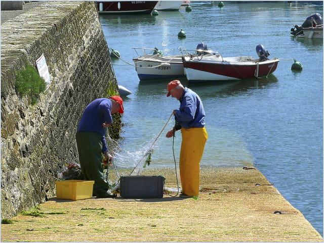 Pêcheurs et filet