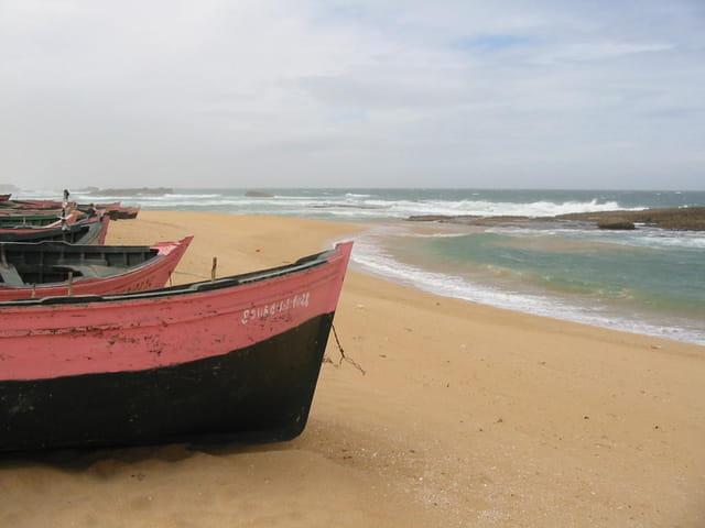 Pêcheurs marocains,jour de tempête