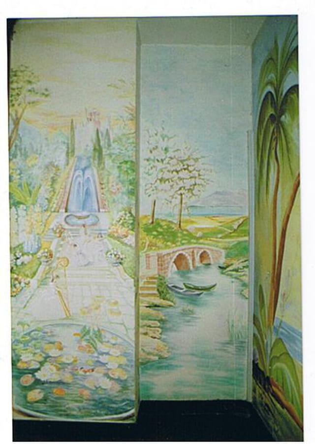Peinture sur le mur de jeanne l