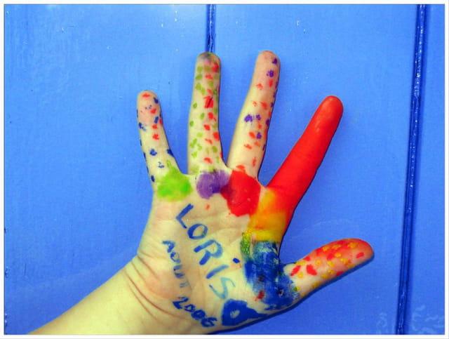 Peinture sur main