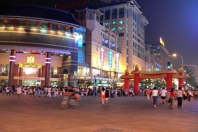 Pekin, rue piétonne