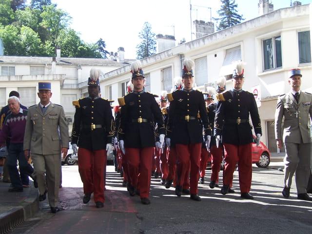Pélerinage militaire de LOURDES - Militaires - Ecole St-Cyr.
