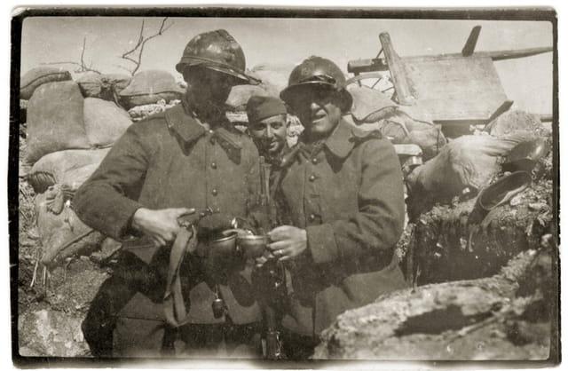 Pépé jean sur le front de guerre