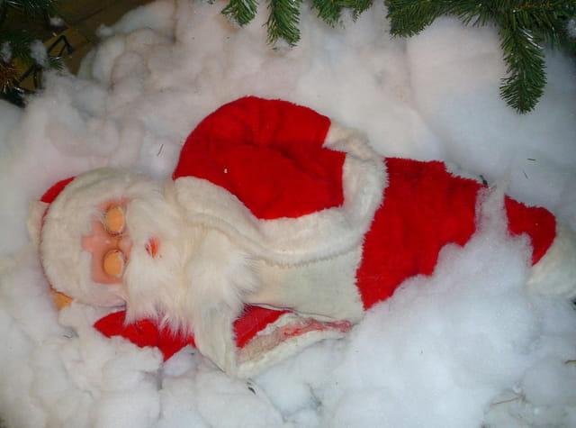 Père Noël bien fatigué