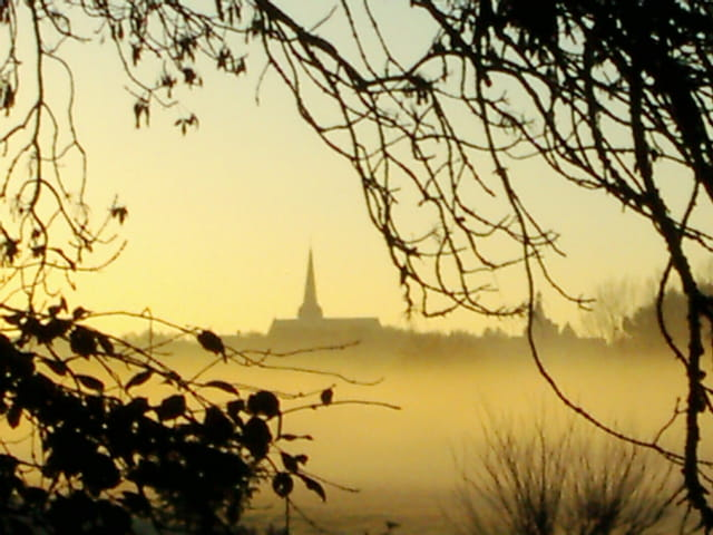 Petit matin de brume à issoudun