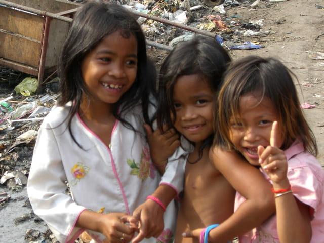 Petites filles du cambodge