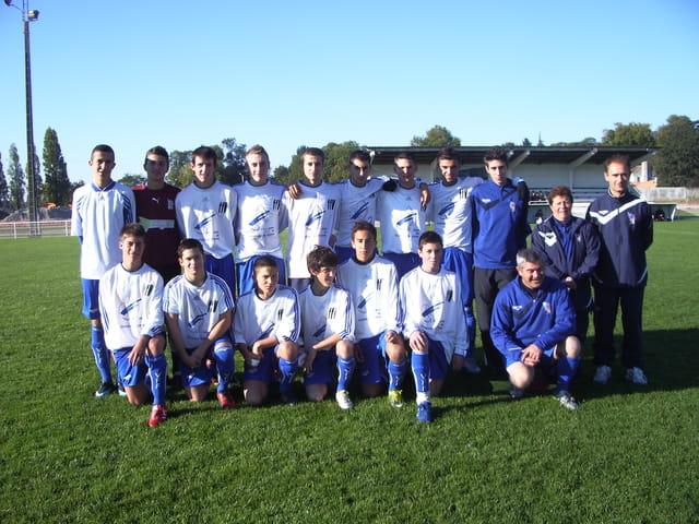 Photos des jeunes de l'équipe 17 ans