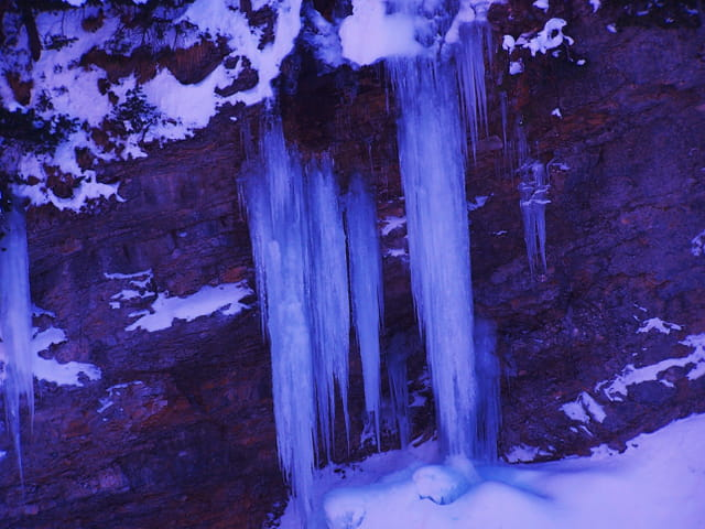 Pics de glace.