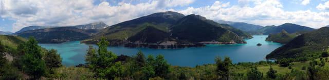 Lac bleu de Castellane