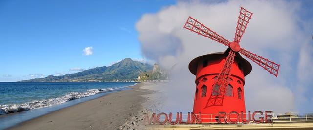 Plage de Saint Pierre et le Moulin Rouge