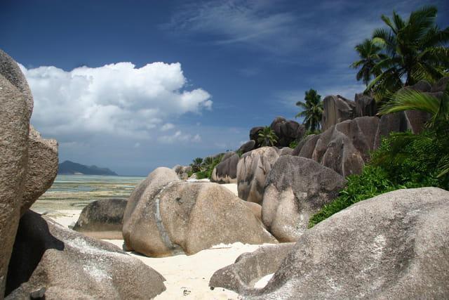 Plage et granites