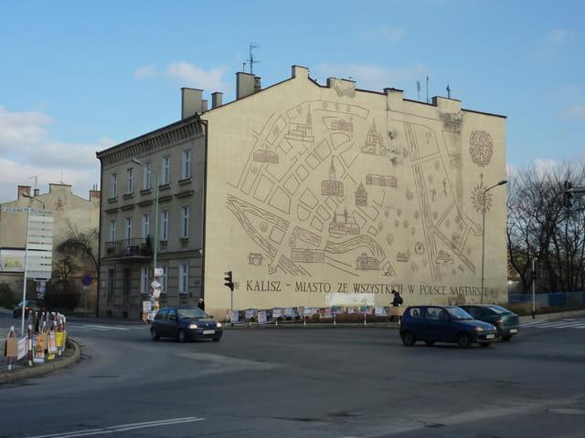 Plan de la ville de Kalisz