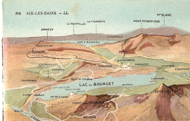 Plan général du lac du Bourget