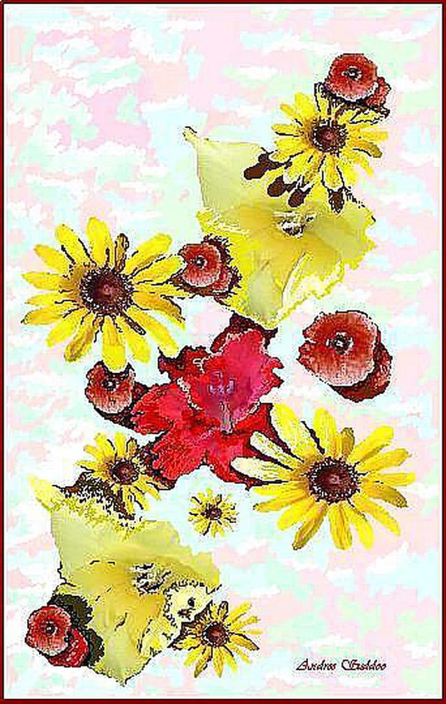 """Plate de Fleurs"""