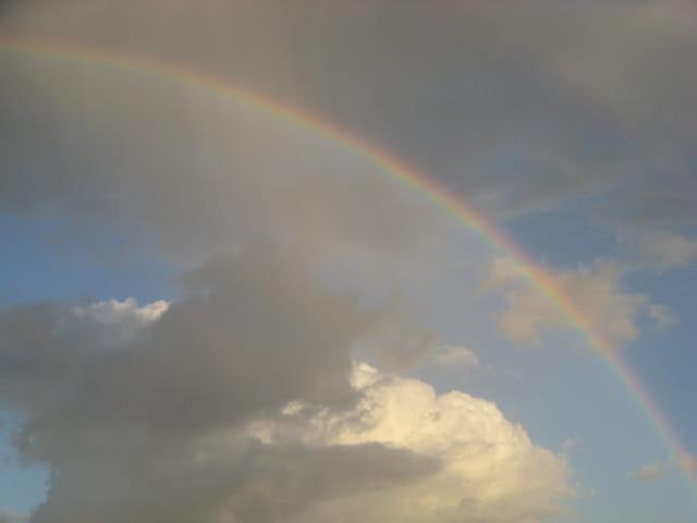 Pluie sur l'arc-en-ciel