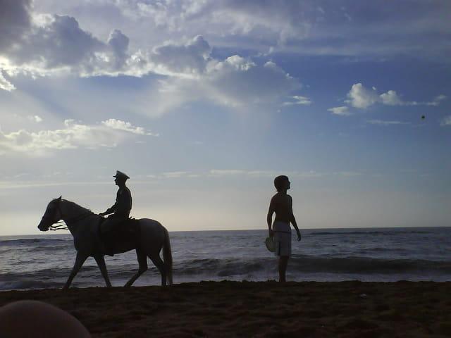 Police à la plage